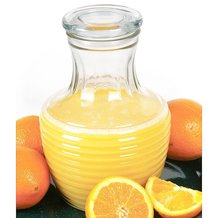 Glass Juice Jar with Lid