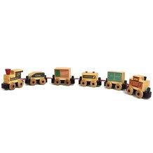 Pint-Sized Wooden Railway Train Set