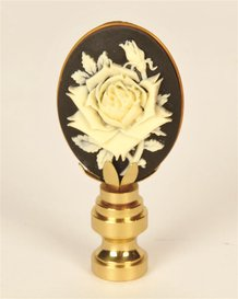 Cameo Rose Finial