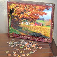 Amish Country Jigsaw Puzzles - Trail Bottom Autumn