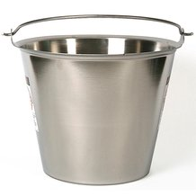12-1/2 Qt Seamless Stainless Steel Pail