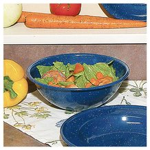 Royal Blue Enamelware Salad Bowl