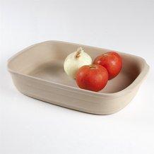 Natural Stoneware Rectangle Baking Pan