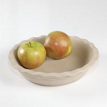 Natural Stoneware Deep Dish Pie Pan