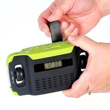 Hand-Cranked Radio/Alarm Clock/Flashlight