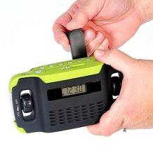 Hand-Cranked Radio/Alarm Clock/Flashlight