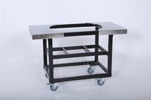Primo Cart with Basket and Stainless Steel Side Tables
