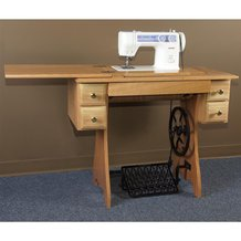 Traditional Sewing Machine, Cabinet and Treadle
