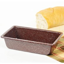 Brown Enamelware Loaf/Bread Pan
