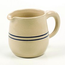 Heritage Blue Stripe Stoneware Syrup Pitcher