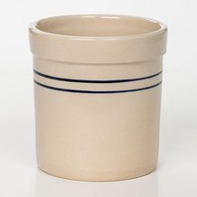 Heritage Blue Stripe Stoneware Crock - 1/2 Gallon