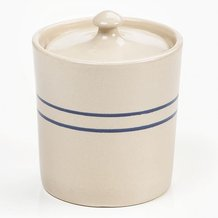 Heritage Blue Stripe Stoneware Small Canister