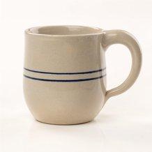 Heritage Blue Stripe Stoneware Round Mug