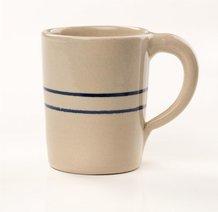 Heritage Blue Stripe Stoneware Traditional Mug