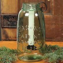 Green Mason Jar Candle Holder