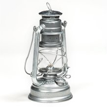Feuerhand Lantern from Germany - Silver Galvanized