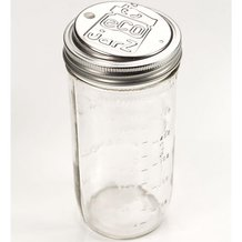 EcoJarz Jar with Drink Lid