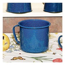 Royal Blue Enamelware Giant Mug