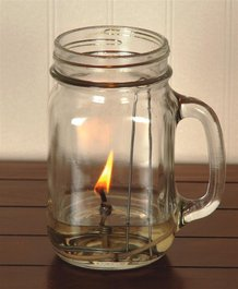 Merry Corliss Olive Oil Chamber Lamp