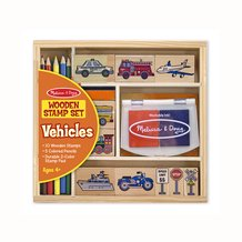 Wooden Stamp Set – Vehicles