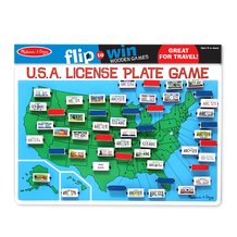 USA License Plate Game Travel Game