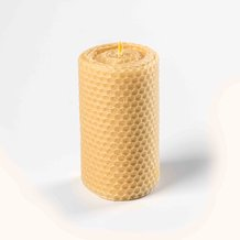 Rolled Beeswax Pillar Candles