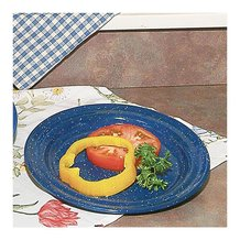 Royal Blue Enamelware Lunch Plate