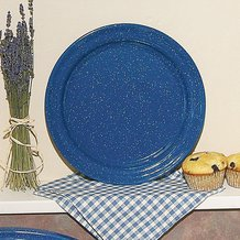 Royal Blue Enamelware Dinner Plate