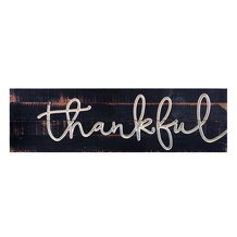 Thankful Carved Calligraphy Sign