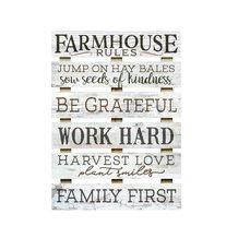 Farmhouse Rules Skid Sign