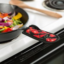 Red Chili Peppers Hot Handle Pad Sets for Cast Iron Cookware