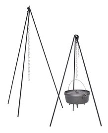 Tripod with Chain for Cast Iron Cookware over an open fire