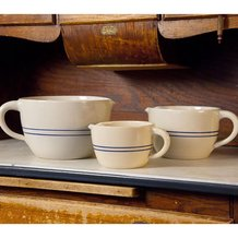 Heritage Blue Stripe Stoneware Batter Bowls