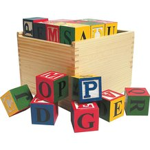 Large Wooden ABC Blocks