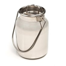Small Stainless Steel Milk Cans - 5L/1.3 gal