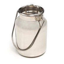 Small Stainless Steel Milk Cans - 10L/2.6 gal