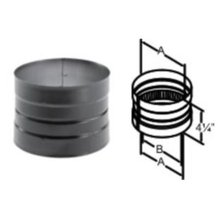 DuraBlack Double-Skirted Stovetop Adapter Wood Stove Pipe