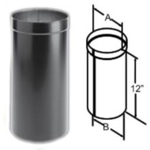 DuraBlack Oval to Round Adapter Wood Stove Pipe