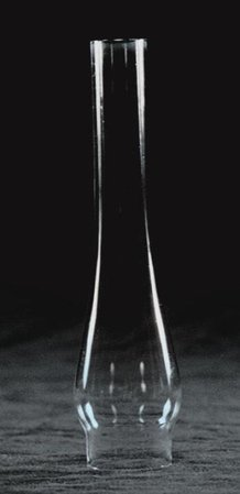 """Clear Oil Lamp Chimney - 1-1/8"""" base"""