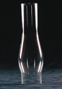 """Clear Oil Lamp Chimney - 1-5/8"""" base"""