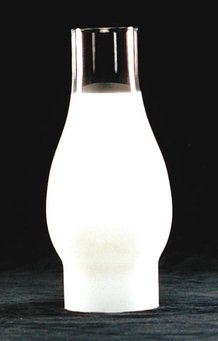 "Frosted Oil Lamp Chimney - 2-7/8"" base"