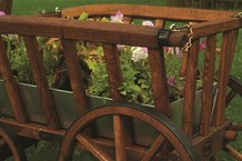 Planter Boxes for Amish-Made Wooden Goat Wagons