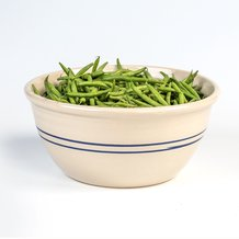 "14"" Heritage Blue Stripe Stoneware Mixing Bowl"