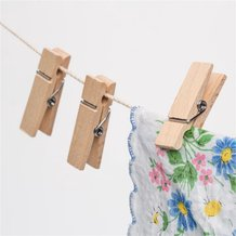 Mini Wooden Spring Clothespins