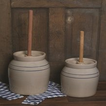 Hand-Turned Pottery Butter Churn