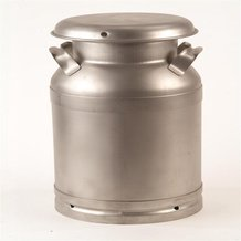 Large Stainless Steel Milk Cans - USA Made