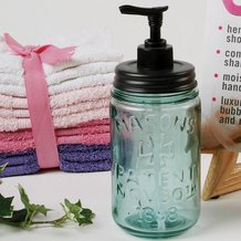 Blue Mason Jar Soap Dispenser