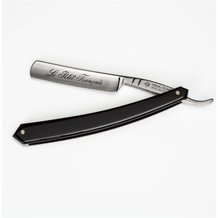 Thiers-Issard Black Plastic Handle Straight Razor