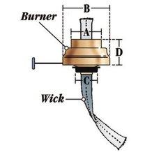 Dietz Oil Lantern Burners - Comet Burner