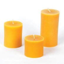 100% Beeswax Pillar Candles